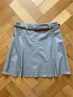 Zero Spódnica midi szaro-brązowy-zielono-szary Bawełna