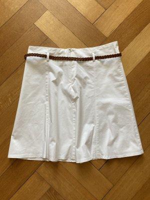 Zero Spódnica midi biały Bawełna