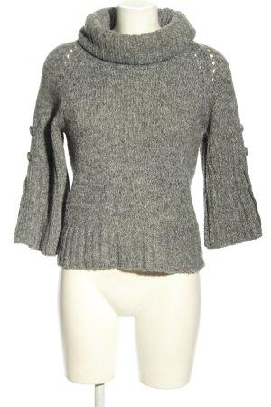 Zero Maglione dolcevita grigio chiaro puntinato stile casual