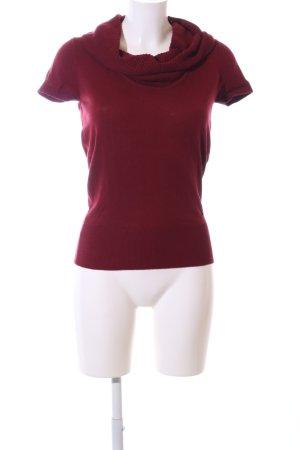 Zero Colshirt rood Gemengd weefsel