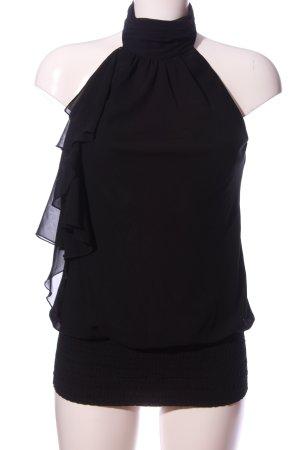 Zero Bluzka z falbankami czarny W stylu casual