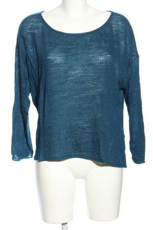Zero Rundhalspullover blau Casual-Look