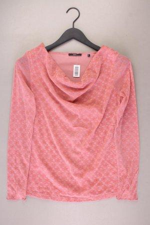 Zero Samtbluse Größe 38 Langarm rosa aus Polyamid