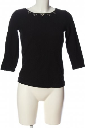 Zero Schlupf-Bluse schwarz-silberfarben Casual-Look