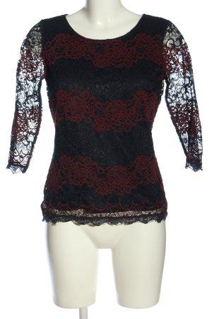 Zero Schlupf-Bluse schwarz-rot Casual-Look