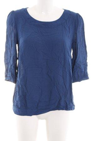 Zero Schlupf-Bluse blau Business-Look