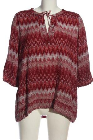 Zero Schlupf-Bluse rot-wollweiß grafisches Muster Casual-Look