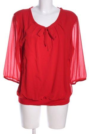 Zero Schlupf-Bluse rot Elegant