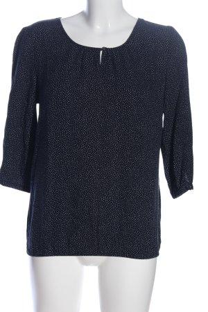 Zero Schlupf-Bluse blau-weiß Punktemuster Business-Look