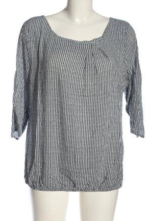 Zero Schlupf-Bluse weiß-schwarz abstraktes Muster Casual-Look