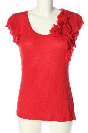 Zero Schlupf-Bluse rot meliert Casual-Look