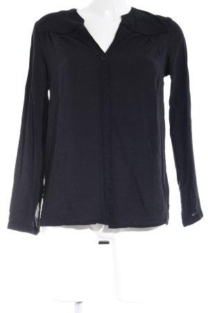 Zero Slip-over blouse zwart casual uitstraling