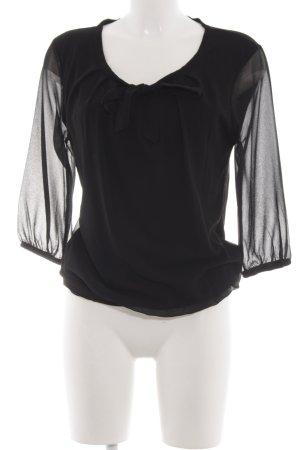 Zero Schlupf-Bluse schwarz Elegant