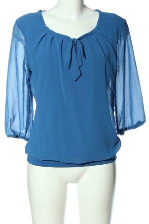 Zero Blouse avec noeuds bleu style décontracté
