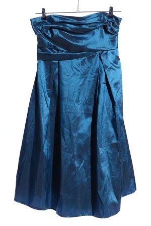 Zero schulterfreies Kleid blau Elegant
