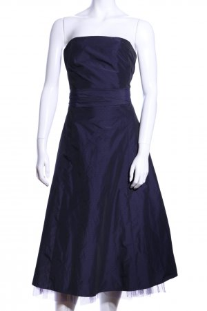 Zero Off the shoulder jurk blauw gestippeld patroon elegant
