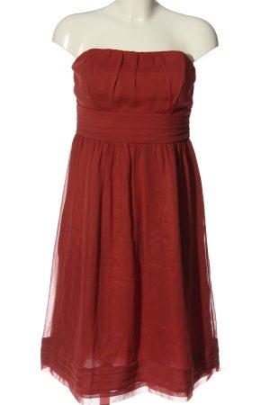 Zero schulterfreies Kleid rot Elegant