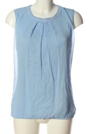 Zero ärmellose Bluse blau Casual-Look