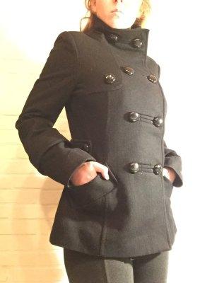 Zero Marynarski płaszcz czarny