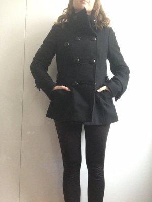 Zero Cappotto stile pilota nero