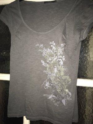 Zero Shirt mit Blütenprint (Beflockung), grau