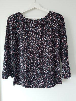 ZERO Shirt, schwarz, geblühmt, Gr.34, 3/4Arm