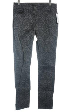 Zero Skinny Jeans schwarz-grau florales Muster Casual-Look
