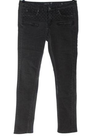 Zero Dopasowane jeansy czarny W stylu casual