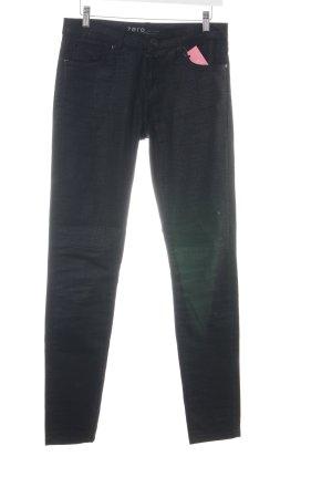 Zero Slim Jeans schwarz Animalmuster extravaganter Stil