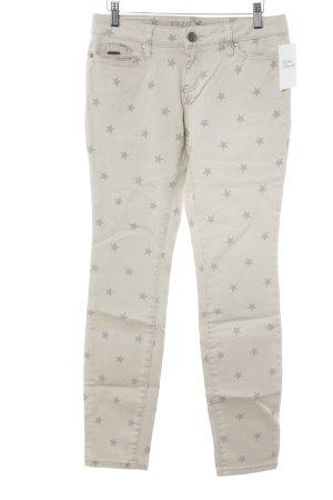 Zero Slim Jeans hellgelb-hellgrau Sternenmuster Casual-Look