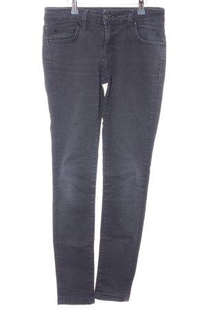 Zero Slim Jeans taupe-schwarz Casual-Look