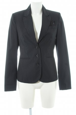 Zero Smoking-Blazer schwarz-weiß Streifenmuster Business-Look