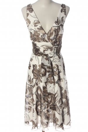 Zero Sommerkleid weiß-braun Allover-Druck Casual-Look