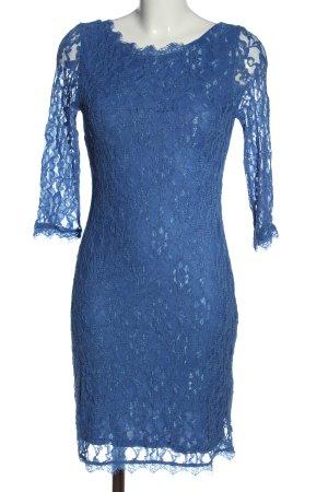 Zero Spitzenkleid blau Webmuster Elegant