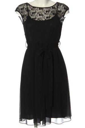 Zero Koronkowa sukienka czarny Wzór w kwiaty Imprezowy wygląd