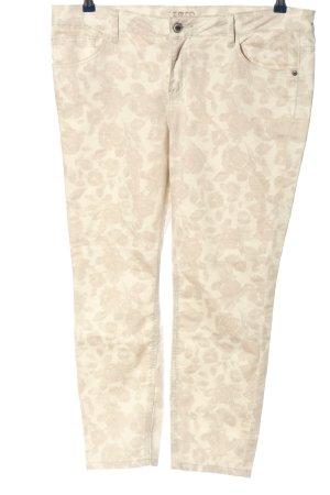 Zero Jeansy z prostymi nogawkami w kolorze białej wełny Na całej powierzchni
