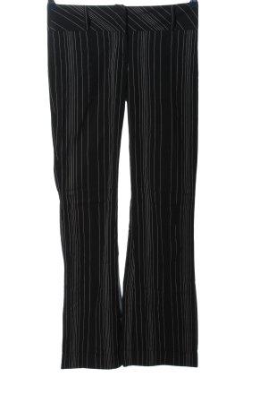 Zero Stoffhose schwarz-weiß Streifenmuster Casual-Look