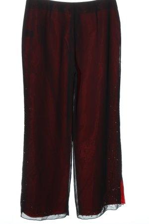 Zero Stoffhose rot-schwarz Casual-Look