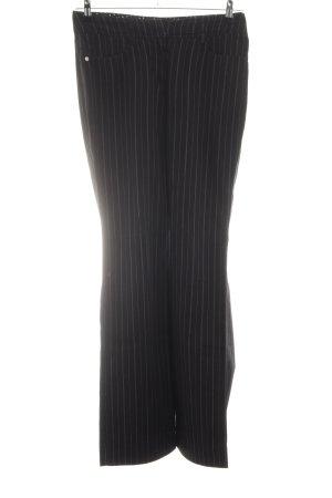 Zero Stoffhose schwarz Streifenmuster Business-Look