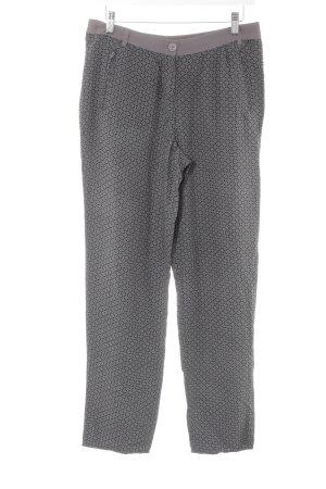 Zero Stoffhose grau-schwarz abstraktes Muster Casual-Look