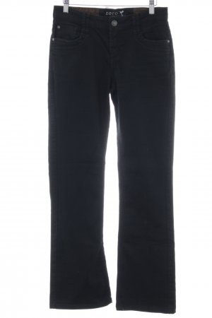 Zero Straight-Leg Jeans schwarz Casual-Look