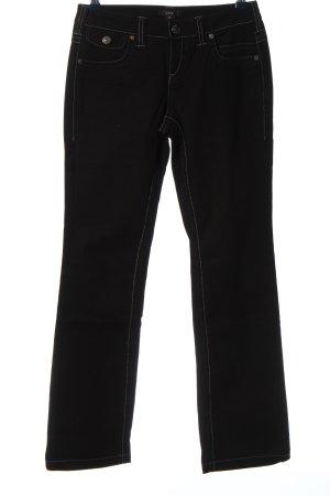 Zero Jeansy z prostymi nogawkami czarny W stylu casual