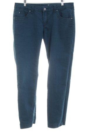 Zero Jeansy z prostymi nogawkami petrol W stylu casual