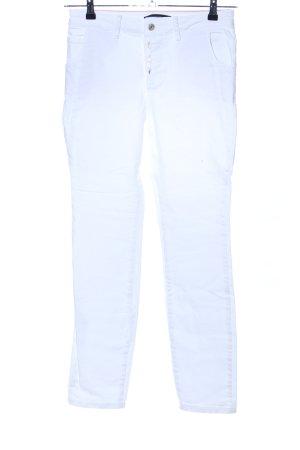 Zero Jeansy z prostymi nogawkami biały W stylu casual