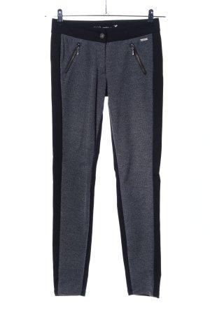 Zero Pantalon strech noir-gris clair moucheté style décontracté