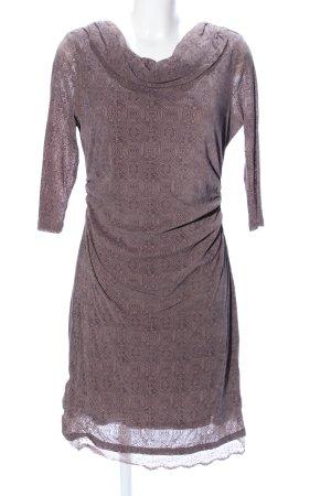 Zero Stretchkleid bronzefarben Allover-Druck Casual-Look
