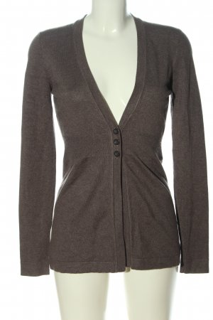Zero Cardigan tricotés brun moucheté style décontracté