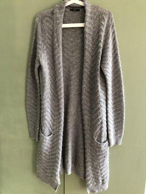 Zero Manteau en tricot gris laine alpaga