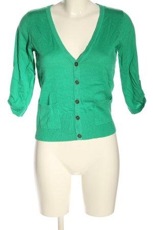 Zero Veste en tricot vert style décontracté