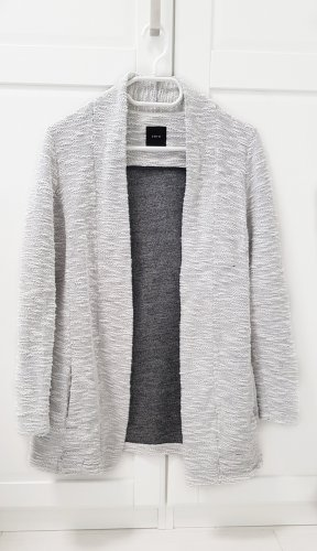 Zero Strickjacke S/ 36 grau-weiß